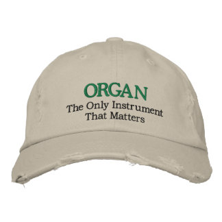 Funny Embroidered Organ Music Hat Embroidered Baseball Caps