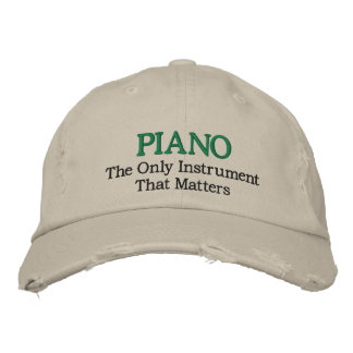 Funny Embroidered Piano Music Hat Embroidered Baseball Caps