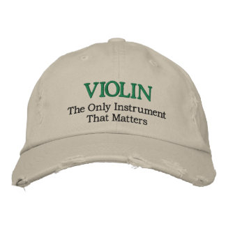 Funny Embroidered Violin Music Hat Embroidered Baseball Cap