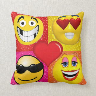FUNNY EMOJI FACE THROW PILLOWS