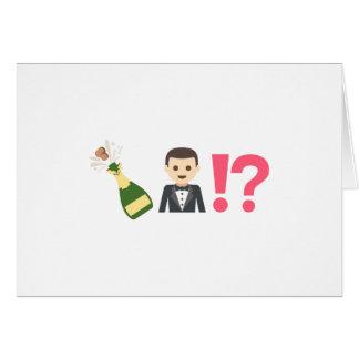 Funny Emoji Groomsman Request Card