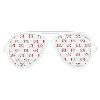 Funny Emoji Laughing Out Loud Pattern Aviator Sunglasses