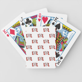 Funny Emoji Laughing Out Loud Pattern Bicycle Playing Cards