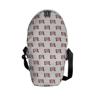 Funny Emoji Laughing Out Loud Pattern Courier Bag