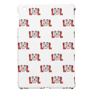 Funny Emoji Laughing Out Loud Pattern iPad Mini Cover
