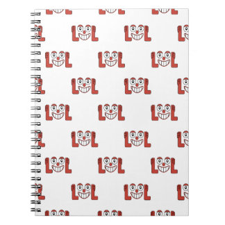 Funny Emoji Laughing Out Loud Pattern Notebook