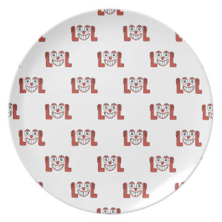 Funny Emoji Laughing Out Loud Pattern Plate