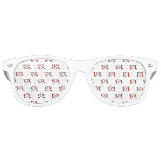 Funny Emoji Laughing Out Loud Pattern Retro Sunglasses