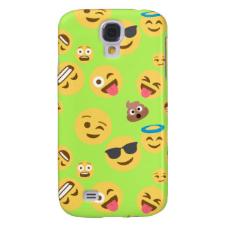 Funny Emoji Pattern (green) Galaxy S4 Cases