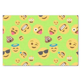 Funny Emoji Pattern (green) Tissue Paper