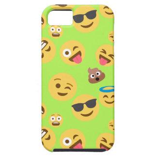 Funny Emoji Pattern (green) Tough iPhone 5 Case