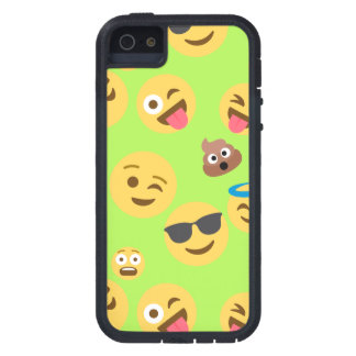 Funny Emoji Pattern (green) Tough Xtreme iPhone 5 Case