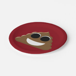 Funny Emoji Poo 7 Inch Paper Plate