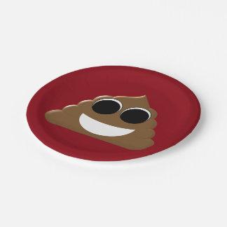 Funny Emoji Poo Paper Plate