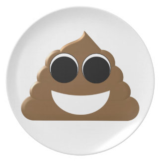 Funny Emoji Poo Party Plate