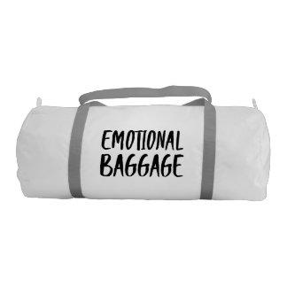 Funny Emotional Baggage | Modern Typography Gym Duffel Bag