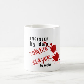 Funny ENGINEER MUG Zombie Slayer by Night Named