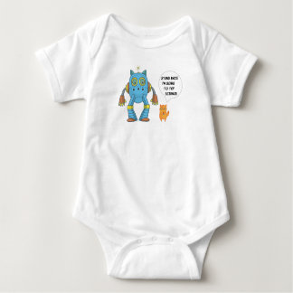 Funny Engineering Science Robotics And Angry Cat Baby Bodysuit