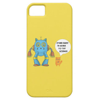 Funny Engineering Science Robotics And Angry Cat iPhone 5 Cover
