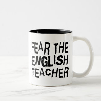 Funny English Teacher Two-Tone Coffee Mug