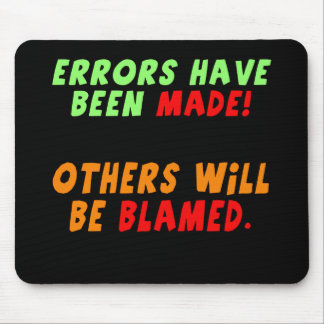 Funny Errors Made T-shirts Gifts Mouse Mats