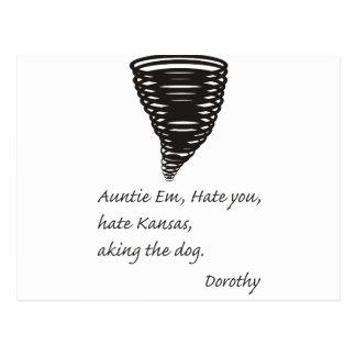 Funny - Even Dorthy Hates Kansas Post Card