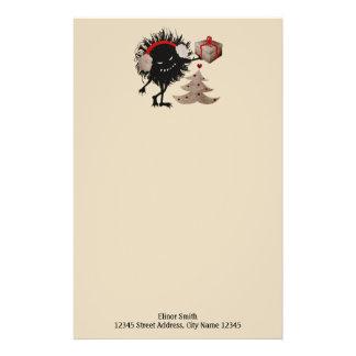 Funny Evil Bug Gives Christmas Present Stationery
