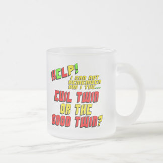 Funny Evil Twin T-shirts Gifts Frosted Glass Mug