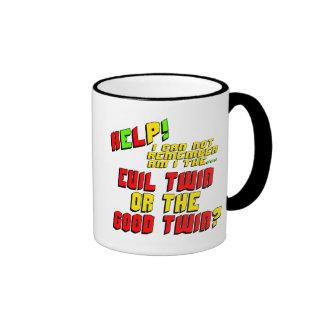 Funny Evil Twin T-shirts Gifts Ringer Mug
