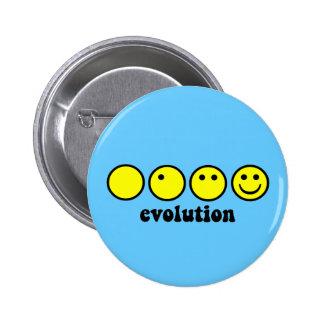 Funny evolution 6 cm round badge