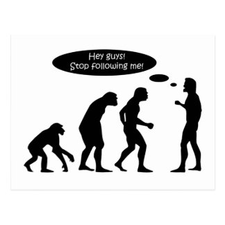 Funny Evolution Postcard