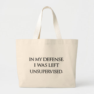 Funny Excuse Quote Witty Manly Typography Quotes Large Tote Bag