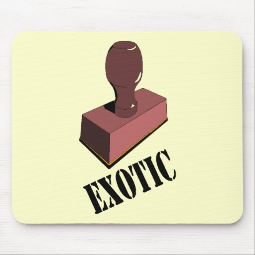 Funny Exotic T-shirts Gifts Mouse Mats