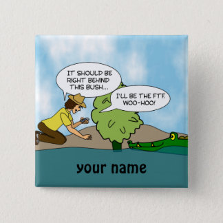 Funny  Extreme Cache Geocaching Name Button