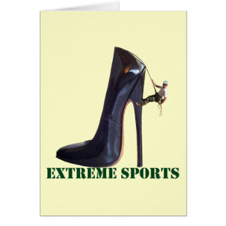 Funny Extreme Sports - Shoe Climbing Card