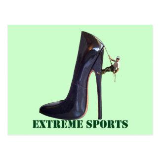 Funny Extreme Sports - Shoe Climbing Postcard