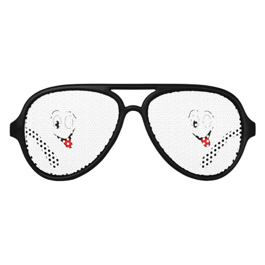 Funny face - black and red. aviator sunglasses