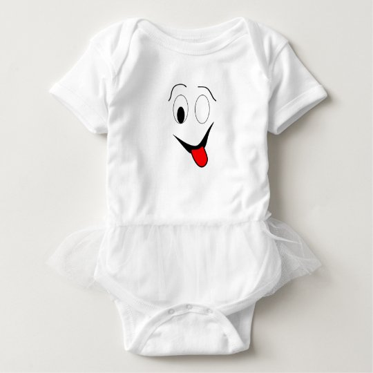 Funny face - black and red. baby bodysuit