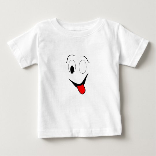 Funny face - black and red. baby T-Shirt