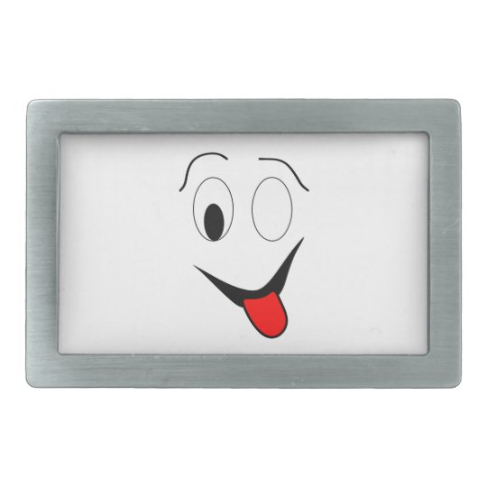 Funny face - black and red. belt buckle