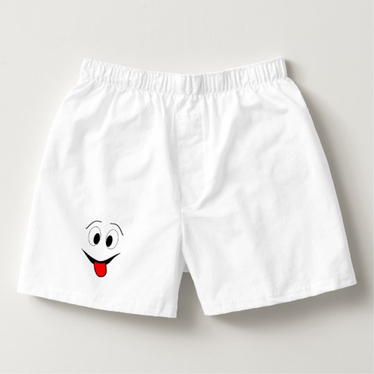 Funny face - black and red. boxers
