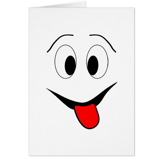Funny face - black and red. card