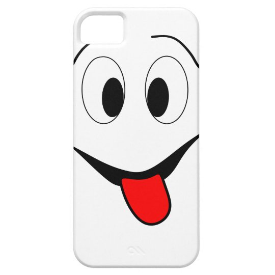 Funny face - black and red. case for the iPhone 5