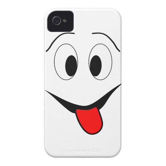 Funny face - black and red. Case-Mate iPhone 4 cases