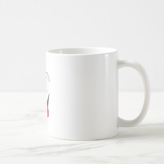Funny face - black and red. coffee mug