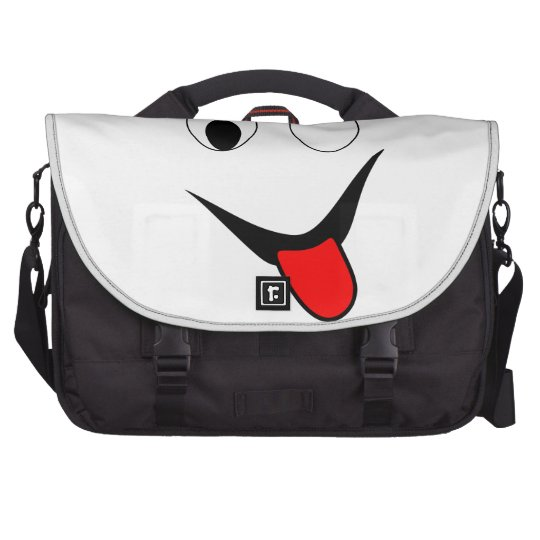 Funny face - black and red. commuter bag