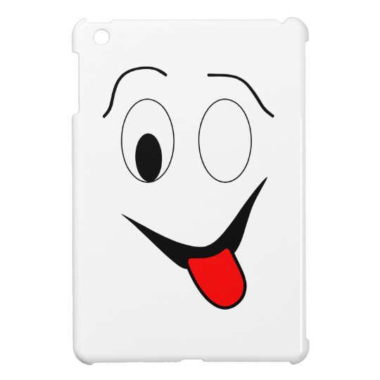 Funny face - black and red. cover for the iPad mini
