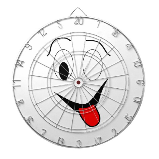 Funny face - black and red. dartboard