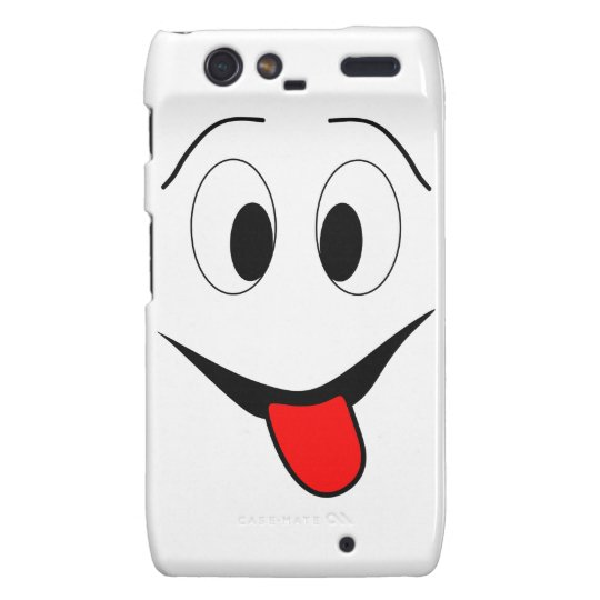 Funny face - black and red. droid RAZR case