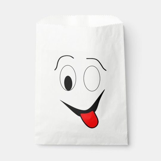 Funny face - black and red. favour bag